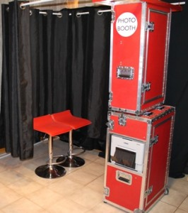 Red Photo Booth Rental